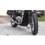 Motone Defender - Sump Guard - Black: Thruxton 1200, Street Twin, Cup, Bonnie T100/T120. 2016on.